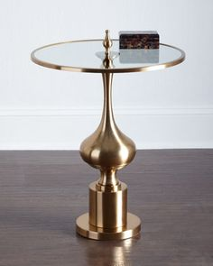 Chryssa Glass-Top End Table at Neiman Marcus.