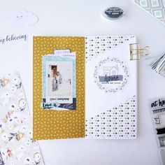 "207 Likes, 9 Comments - Vânia Fonseca (@vaniamfonseca) on Instagram: ""Traveler's notebook spread using the #dreambig collection from @fancypantsdesigns and…"""