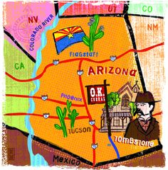 Jing Jing Tsong - Map of Tombstone Arizona