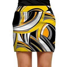 Womens Swirls Gone Wild Made to Order Skirts or Skorts by Loudmouth Golf.  Buy it @ ReadyGolf.com