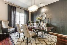 art deco dining room with chandelier high ceiling manhattan mirror modern tables ideas luxury furniture