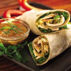 Thai Peanut Butter Chicken Wraps Allrecipes.com