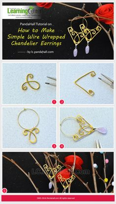 PandaHall Tutorial on How to Make Simple Wire Wrapped Chandelier Earrings