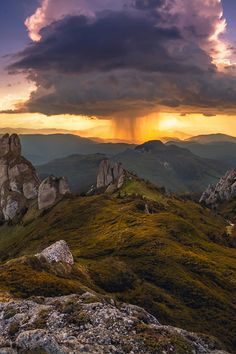 Sunset behind the storm by Dragos Pop