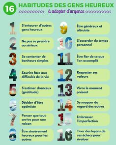 Citation  Infographie : 16 habitudes des gens heureux