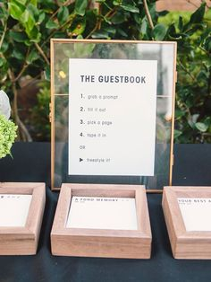 Your guests will be surprised in the best way possible when you ask them to leave their names and well-wishes on one of these alternatives to the traditional wedding guest book. gifts 21 Wedding Guest Book Alternatives You (and Your Guests) Will Love Wedding Book, Wedding Signs, Diy Wedding, Wedding Day, Polaroid Wedding Guest Book, Wedding Guest Favors, Wedding Souvenir, Wedding Themes, Wedding Reception