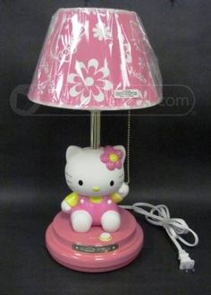 Hello Kitty KT3095 Pink Table Lamp - 17in. Tall