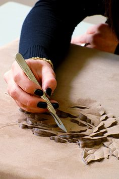 Helen Amy Murray makes beautiful furniture with her own leather technic