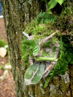 Tree Gargoyles-from Clay and natural objects