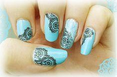 lace nail art 36 - 50+ Intricate Lace Nail Art Designs  <3 <3