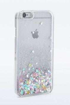 Hülle für iPhone 6 mit Wasser- und Glitzerdesign