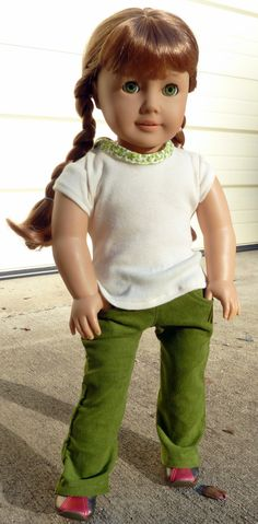 Olive You Corduroy Pants for 18 inch American Girl by factoryL, $11.50
