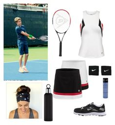 """""""tennis"""" by kwkalyn on Polyvore featuring Dunlop, Fila, NIKE, Apivita and blomus"""