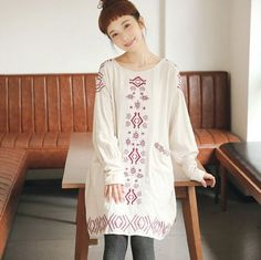 Retro exquisite embroidery o-neck long sleeve National Wind dress mrl girl 2016 autumn