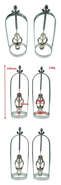 New style Butterfly adjustable torture play Clamps cage sexy Nipple clips breast Bondage Restraints Accessories Fetish sex toys