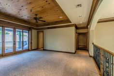 knotty pine tray ceiling 1108 Shadow Wood Dr, Edmond, OK 73034 | MLS #727635 | Zillow
