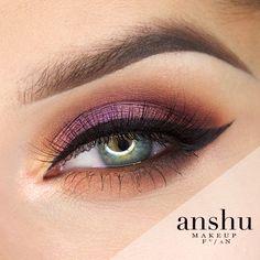 Makeup Geek Eyeshadow in Americano and Hype. Makeup Geek Foiled Eyeshadow in Hype. Makeup Geek Gel Liner - Immortal. Look by: Anshu.
