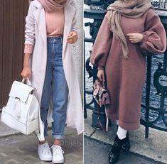 Oversized sweater dress hijab style Oversized sweater dress hijab style – Just Trendy Girls Street Hijab Fashion, Muslim Fashion, Modest Fashion, Fashion Outfits, Hijab Chic, Casual Hijab Outfit, Modele Hijab, Outfit Look, Mode Vintage