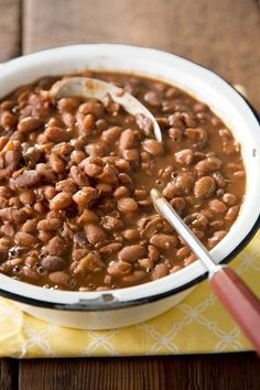 Slow Cooker Pinto Beans--very simple recipe and made in the crockpot! I didn't soak overnight, just boiled beans for 2 minutes and let sit an hour. I thought they were even better the next day. Definitely making again!