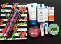 1st Birthday Blog Box   beauty, skincare, DYI, bullet journal, notebook, design, spring, flowers, giveaway, pens, makeup, LaRochePosay, SPF, moisturizer, cleanser, gift, cadeau, Geschenke, YankeeCandel, #blogger, blog #thankyou, weekend, fridaynight, NeveCosmetics, eye pencil, lip pencil, regali, promo, #box