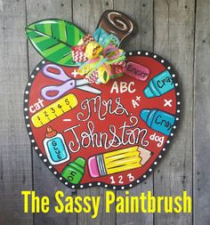 Your place to buy and sell all things handmade Teacher Door Signs, Teacher Door Hangers, Teacher Doors, Apple Classroom, Classroom Door, Classroom Charts, Classroom Ideas, Teacher Appreciation Gifts, Teacher Gifts