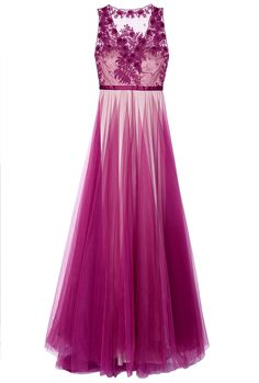 Catherine deane Magenta Prarie Embroidered Gown in Purple (floral) | Lyst