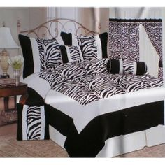 King Size Zebra Patchwork Micro Suede and Short Fur Black / White Comforter Set Bedding in a Bag by octorose, http://www.amazon.com/dp/B00350N2GQ/ref=cm_sw_r_pi_dp_AwuUqb154FTXS