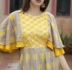 Best 12 Beautiful pleats bell sleeves – Page 622411610981900938 – SkillOfKing. Kurti Sleeves Design, Kurta Neck Design, Sleeves Designs For Dresses, Dress Neck Designs, Stylish Dress Designs, Sleeve Designs, Stylish Kurtis Design, Indian Gowns Dresses, Indian Fashion Dresses