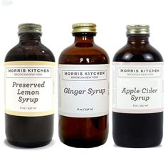 Morris Kitchen Syrup 3 Pack foodie, beverages, morris kitchen