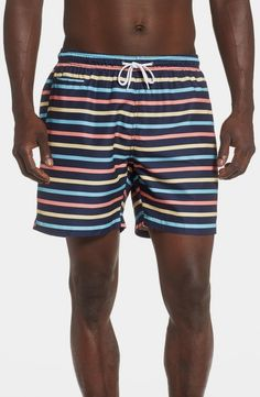 online shopping for Trunks Surf & Swim Co. Retro Stripe Sano Swim Trunks from top store. See new offer for Trunks Surf & Swim Co. Skinny Fit Suits, Skinny Fit Jeans, Houndstooth Dress, Slim Fit Dresses, Surf Outfit, Fitted Dress Shirts, Cute Bikinis, Man Swimming, Swim Trunks