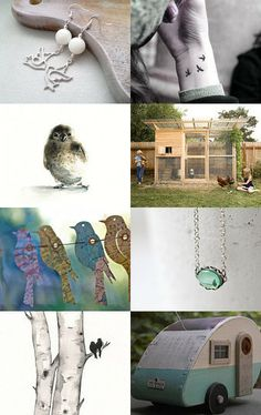 Birds in My Garden - hello world <3 by Suzanne Burkunk - van Tongeren on Etsy--Pinned with TreasuryPin.com