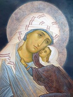 Anna and the Theotokos Mother Mary, Mother And Child, Madonna, Saint Joachim, Jesus Christ Images, Mary And Jesus, Byzantine Icons, Jesus On The Cross, Blessed Virgin Mary