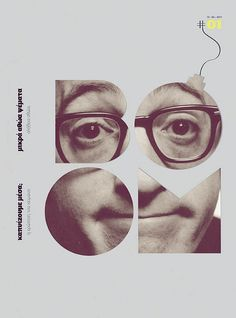 Boom. Woody Allen graphic design poster. Visit us at www.wer1digital.co.uk