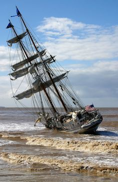 """""""The netting is rigged to strain the me from the sea"""" ~Irving Johnson Bateau Yacht, Bateau Pirate, Old Sailing Ships, Abandoned Ships, Ship Paintings, Boat Painting, Wooden Ship, Shipwreck, Wooden Boats"""