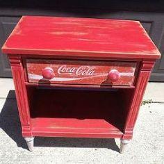 Repurposed Coca Cola Table - Coca Cola - Idea of Coca Cola Repurposed Furniture, Cool Furniture, Painted Furniture, Crate Furniture, Outdoor Furniture, Furniture Outlet, Handmade Furniture, Furniture Stores, Modern Furniture
