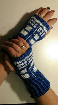 Check out this item in my Etsy shop https://www.etsy.com/listing/274560946/fingerless-gloves-wrist-warmers-dr-who