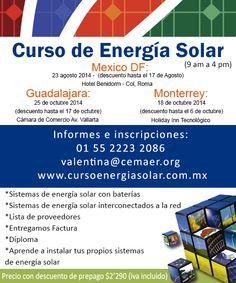 cursos de energia solar en df, guadalajara y monterrey