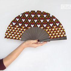 Eventail pagne wax par olelé - geometrie