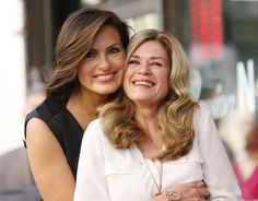 """It was a family affair for Mariska Hargitay as she accepted her star on the Hollywood Walk of Fame on Friday. Surrounded by loved ones, the """"Law & Order"""" vet was overcome with emotion as she received her star, which … Continue reading → Jayne Marie Mansfield, Janes Mansfield, Mariska Hargitay, Hollywood Walk Of Fame, Sports Celebrities, Celebs, Female Celebrities, Mejores Series Tv, Celebrity Siblings"""