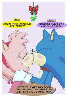 Sonic The Hedgehog, Hedgehog Movie, Sonic And Amy, Sonic Boom, Live Action Movie, Action Movies, Sonamy Comic, Christmas Comics, Couple