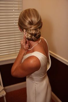 Wedding updo.   #brockcassidiesalon
