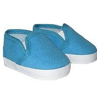 American Boy Doll Shoes.  Silly Monkey - Turquoise Canvas Slip-On Shoes, $6.50 (http://www.silly-monkey.com/products/turquoise-canvas-slip-on-shoes.html)