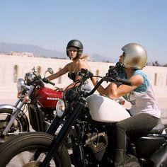Girls be bikering.