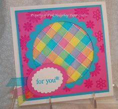 Hedgehog Ink: Tutorial For a Woven Ribbon Card