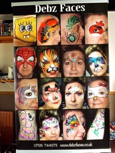 Painted Boards, Community Events, Scribble, Funny Faces, Corporate Events, Painters, Special Events, Makeup Tips, Body