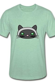 This bauetiful cat face Unisex Heather Prism T-Shirt is a symbol of cute, funny, cool, unique, and happiness to wear. Modern and handsome, this cat art is truly the perfect gift for any cat lover in your life.