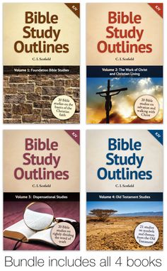 The Bible Study Outlines are designed to deepen your understanding of the Bible, one lesson at a time. Each lesson will take you straight to God's Word and guide you as you increase your knowledge of