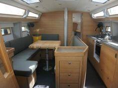 Yacht Interior, Interior Design, Sailboats, Corner Desk, Furniture, Home Decor, Nest Design, Sailing Yachts, Corner Table