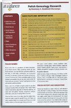 Genealogy at a Glance: Polish Genealogy Research; by Rosemary A. Dembinski Chorzempa