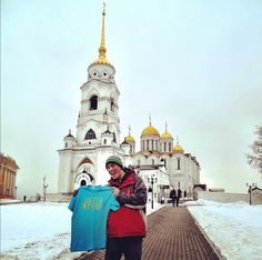 From Brian Chung: A few hours outside of Moscow in Vladimir, Russia. Standing in front of Assumption Cathedral #bcspringbreak
